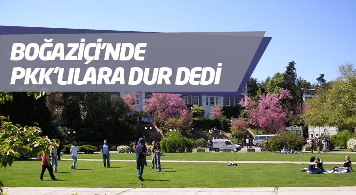 Boğaziçi Üniversite'nin rektörü PKK'ya izin vermedi.