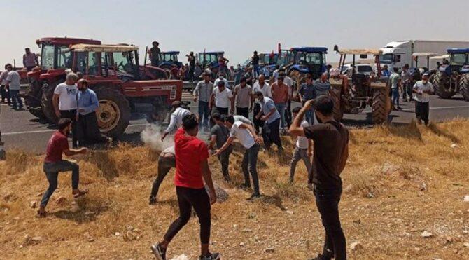 'AK Parti istifa' diye bağıran 18 çiftçi gözaltına alındı