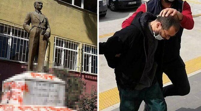 Atatürk büstüne çirkin saldırıya 29 yıl hapis istemi